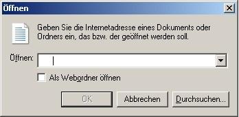 Webordner im Internet Explorer